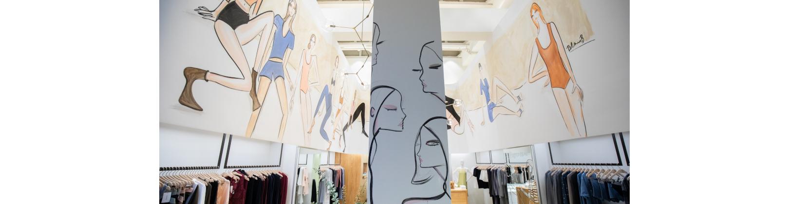 Blair Breitenstein Kunstwerk HANRO Store New York